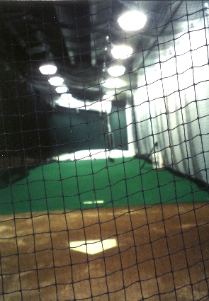 Visitor's batting cage