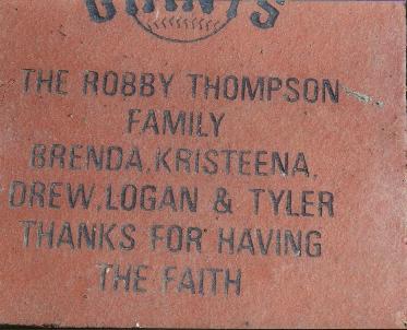 Thompson family brick